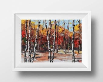 Birch tree Print, Landscape Print, Tree Print, Birch Tree Art, Birch Trees, Fall Decor, Tree Decor, 8x10 print, Canvas Art, Seasonal Art