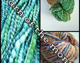 Hand Spun Yarn Of The Month Club - 3 month subscription  - Dandelions & Daisies