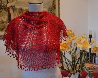 Knit Shawl Pattern ~ Let's Do the Charleston