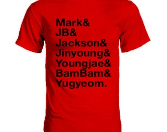 GOT7 Mark and JB and Jackson and Jinyoung and Youngjae and BamBam and Yugyeom Group Member Shirt