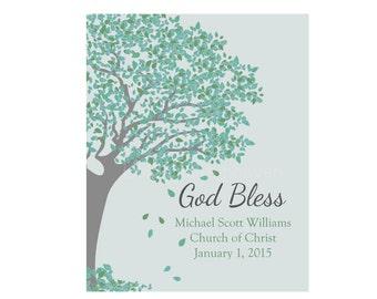 Christening Baptism Godson Print, godson christening, christian nursery, godchild keepsake, godson custom gift, baby dedication gift