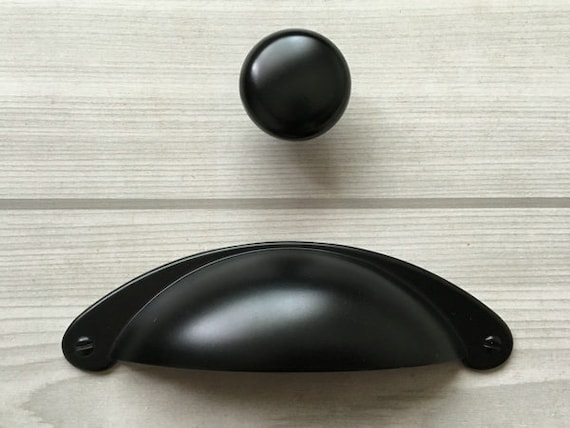 3 Black Cup Pulls Bin Dresser Pull Drawer Knob Pull. Farmhouse Chic Decor. Tween Girl Bedroom Ideas. Marble Vanity Tops. Footstools. Coffee Table Decorations. Checkered Rug. Saddle Seat Stool. Homedecor