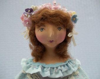 "Folk Art, Vintage Inspired Doll ""Olivia"""