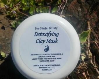 ORGANIC DETOX CLAY, Bentonite Clay, Moroccan Red Clay Mask, Handmade Cleaning Mask, Underarm Detox Clay, Detoxifying Clay Mask, Armpit detox