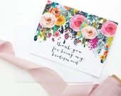 Thank you for being my bridesmaids card / wedding stationary / bridesmaid / will you be my bridesmaid hand lettering