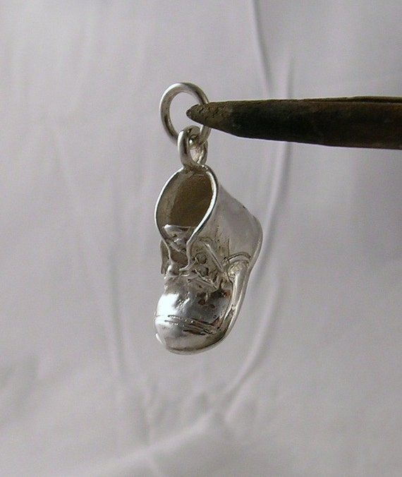 Baby Shoe Charm sterling silver