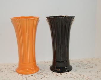 Tall Ribbed Vase Etsy