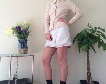 90s does 70s Polyester Beige Long Sleeve