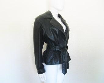 90s Black Leather Jacket