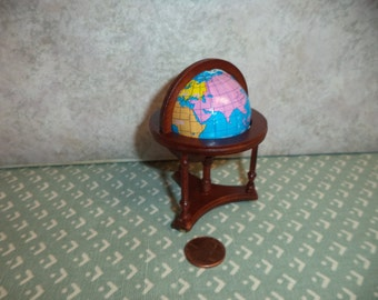 1:12 scale Dollhouse Miniature Globe on Stand