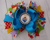 Inside out Bow Inside out Birthday Joy Inside out Joy character Over the Top Bow Inside out party Girls Hair Bows