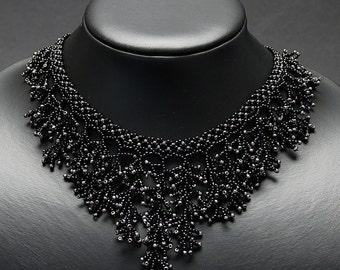 Black and Silver Coral necklace