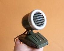 Vintage Soviet Dynamic Microphone. Desktop Microphone MDM. USSR 1960
