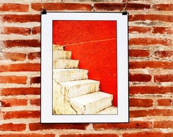 Minimalist Red Wall Art, Fine Art Photography, Instant Download, Urban Red Print, Minimalist Wall Decor, Printable Photo, Minimalist Red