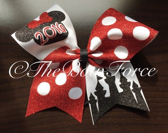 """3"""" Disney inspired mouse Cheer Bow  #224032062"""