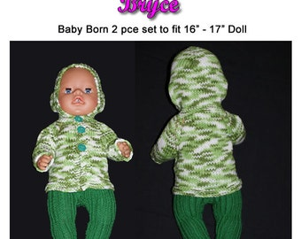 Baby Born Knitting Pattern BRYCE fits 16 to 17 inch dolls (pattern only)