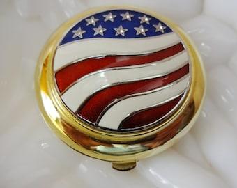 Estee Lauder American Flag Compact