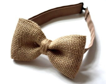 Burlap bow tie, burlap wedding accessories, burlap weddings,burlap bow tie for men
