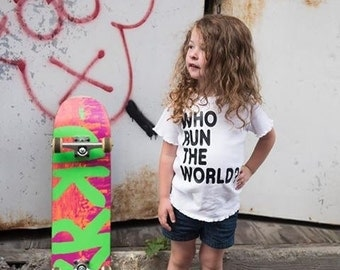 Who Run The World Girls Song Tee, summer, fun, photo prop, all sizes available