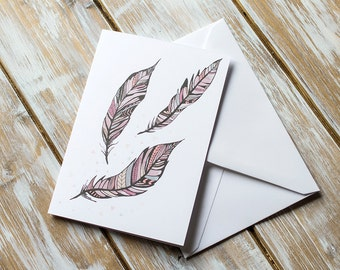 Feathers | Greetings Card