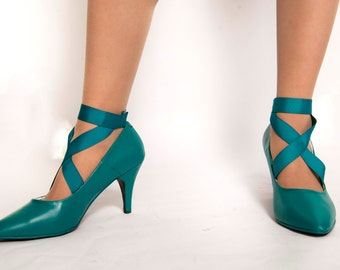 Sailor Moon Neptune Pumps with Ankle Straps
