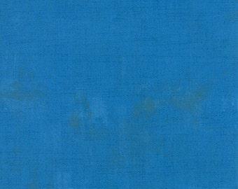 Moda Grunge Basics SAPPHIRE Blue Mottled Background Fabric 30150-221 BTY