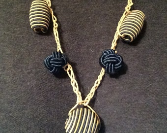 Nursery Necklace with Fiber Beads