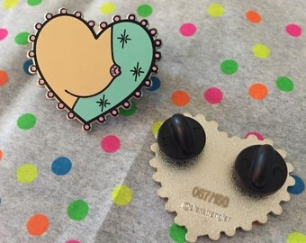 Limited Edition Booby Enamel Pin TEAL