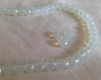 Clear crystal round beads