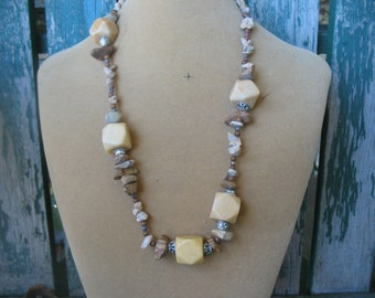 Long Marble Ill-regular Necklace