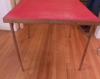 Folding Card Table from the 20-30's-Antique