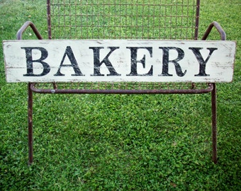 BAKERY Sign / Farmhouse Kitchen Sign / French Country Decor / Country  Kitchen Wall / Cottage