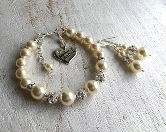 Mother-of-Bride gift Mother-of-the-Bride gift from Daughter Mother-of-the-Bride gift from Groom Mother-of-the-Bride gift from Bride Bracelet