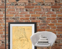 Outer Banks Map 1862 coastal map Restoration Hardware Style Vintage map of Outer Banks Virginia, North Carolina Old Nautical chart wall map