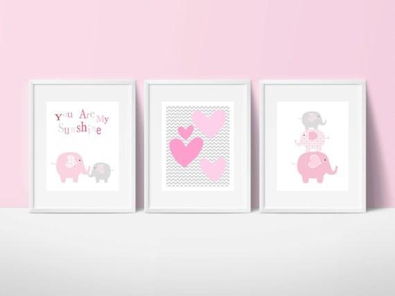 Elefanten deko kinderzimmer for Rosa deko kinderzimmer