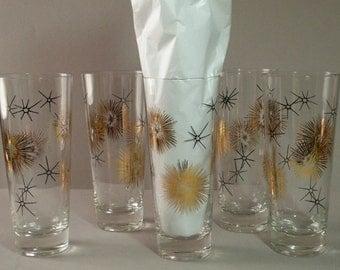 Gold Atomic Drinking Glasses