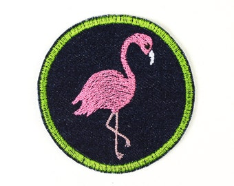 iron-on applique iron-on patches applique patch flamingo 7cm / size inches  2.76