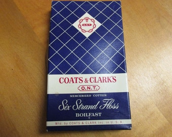 Vintage Coats & Clark's O.N.T. Boilfast Cotton Embroidery Floss