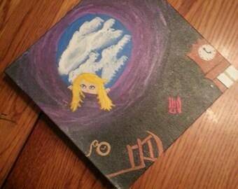 Alice in Wonderland artist original 8x8