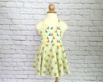 Festival Dress, Girls Dress, Baby Dress, Toddler Dress, Beach Dress, Summer Dress, Twirling Dress, Boho Dress,  Daybreak Geometric Dress
