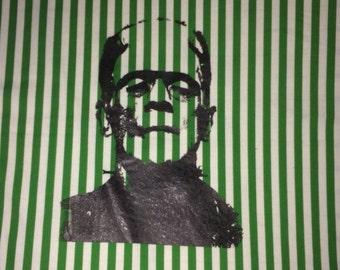 Frankenstein Patch, Frankenstein Back Patch,Green Stripes ,  Boris Karloff, Large Patch, Back Patch