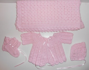Girls Baby Blanket and Sweater Set FREE SHIPPING! (US only)