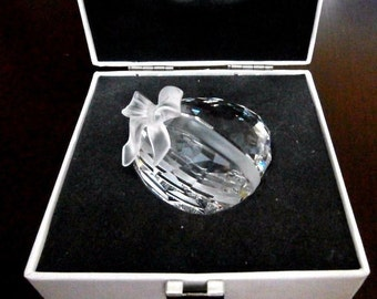 Swarovski Crystal Sweet Heart Mint in Box