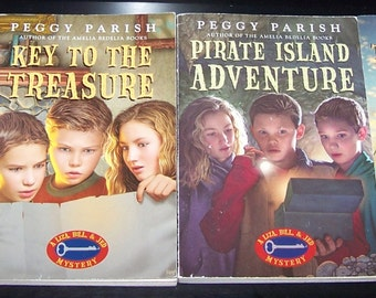 4 Peggy Parish softcovers- Liza, Bill and Jed MYSTERY books CLEAN