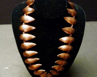 Striking and Stylish Copper Necklace by Renoir.