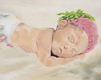 CUSTOM Portrait Painting of an Infant