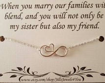 Wedding Gift For Sister Cash : Sister in Law Gift - Sister Wedding Gift- Bridal Party Necklace ...