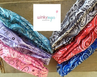 Yee haw bandana headband/for children and adults/party favor/ws48