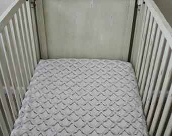 Camel and Ivory Gem Minky Crib Sheet,  Baby, Toddler, Crib Bedding, Nursery