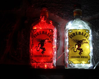 FireBall Whiskey  100 LED Man Cave/Bar/Deco Light with 8 light patterns, Clear or Red Changing Lights